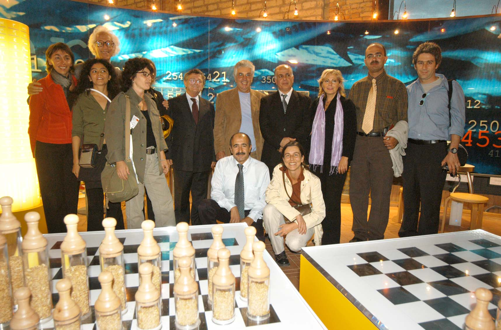 Silvestrini e Hassan Dweik e Peter Hillman, inaugurazione mostra Meet Mat