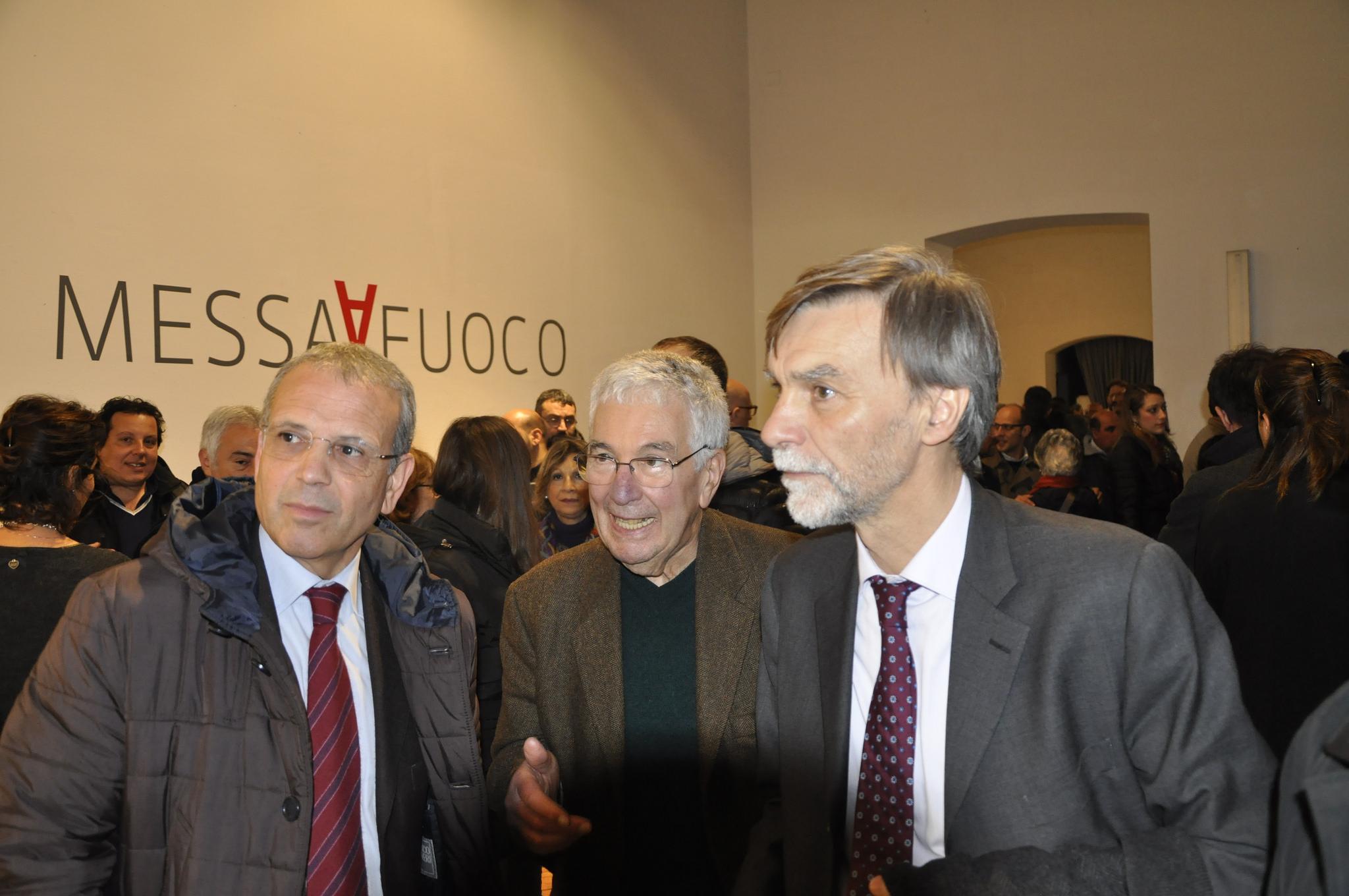 Silvestrini Ministro Infrastrutture Graziano Delrio inaugurazione mostra Messa a Fuoco