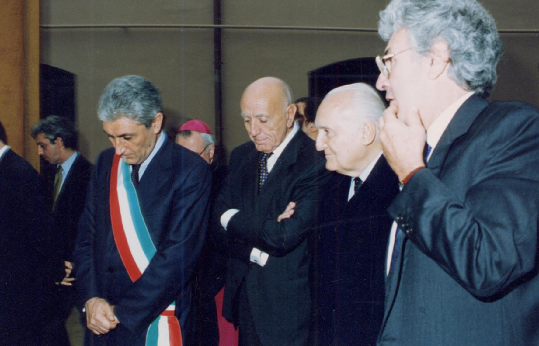 Silvestrini Presidente Oscar Luigi Scalfaro inaugurazione prototipo