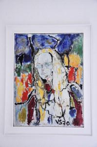 70 x 100 cm - Acrilico su tela - 1970