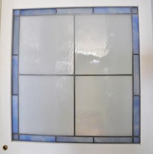Porta scorrevole vetrata - Filo a piombo (B)